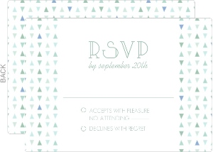 Sea Glass Pattern Wedding Response Card