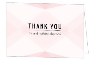 Modern Blush Pattern Wedding Thank You Card