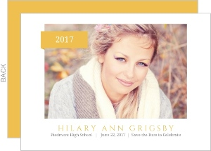Simple Yellow Banner Graduation Save The Date Announcement