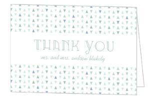 Sea Glass Pattern Wedding Thank You Card