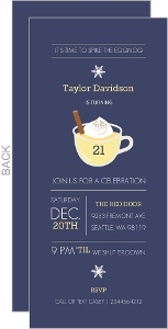 Spiked Eggnog Holiday 21St Birthday Invitation