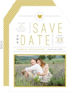 Simple Modern Statement Save The Date Card