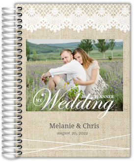 Vintage Burlap Lace Wedding Planner