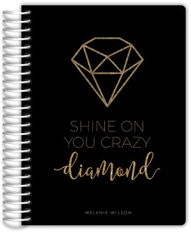 Faux Gold Glitter Diamond Weekly Planner