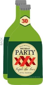 30Th Surprise Birthday Beer Bottle Invitation