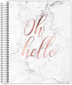Oh Hello Faux Rose Gold Weekly Planner