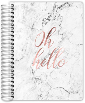 Oh Hello Rose Gold Weekly Planner