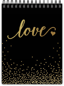 Faux Foil Love Notepad