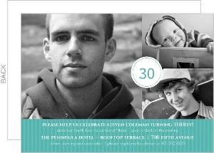 Turquoise Celebration 30Th Birthday Invitation