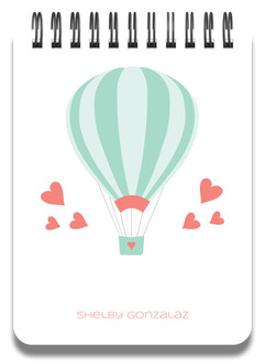 Whimsical Air Balloon Notepad
