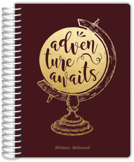 Faux Foil Adventure Globe Journal