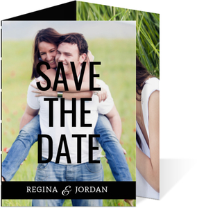 Black Classic Statement Save The Date Announcement