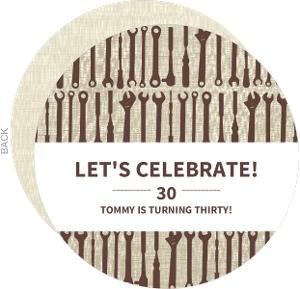 Brown Tools 30Th Birthday Invitation