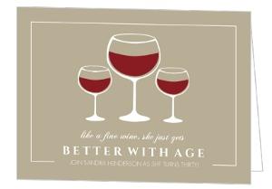 Fine Wine 30Th Birthday Invitation