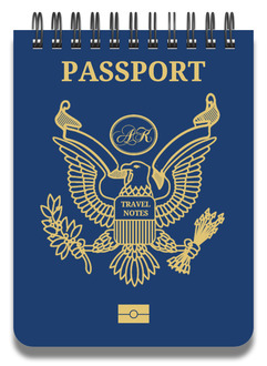 Navy Passport Travel Notepad
