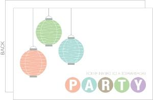 Pastel Hanging Lanterns 30Th Birthday Invitation