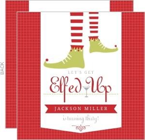 Red Elfed Up 30Th Birthday Invitation