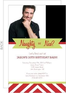 Naughty Or Nice Holiday 30Th Birthday Invitation