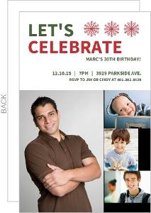 Photo Timeline Holiday Birthday Invitation