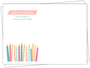 Whimsical Candle Wishes Envelope
