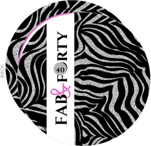 Bling Bling Zebra 40Th Birthday Invitation