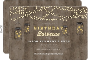 Backyard Lights Birthday Invitation