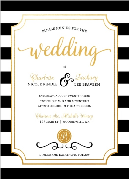 Modern Chic Wedding Invitation Elegant Wedding Invitations