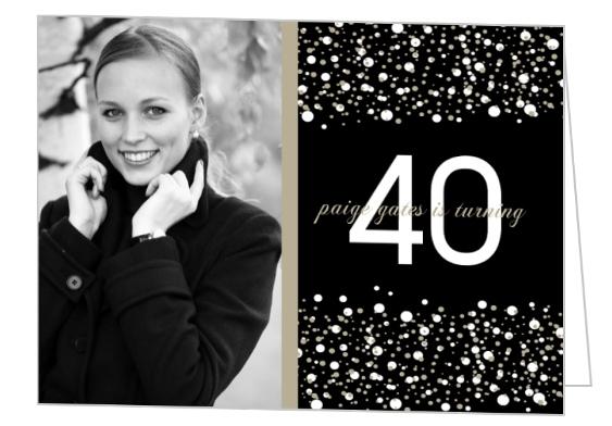 Confetti Photo 40Th Birthday Invitations – Invitations 40th Birthday