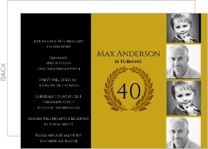 Golden Timeline 40Th Birthday Invitation