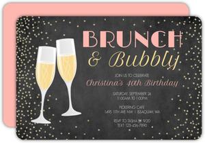 Bubbly Celebration 40th Birthday Invitation
