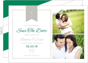 Preppy Chic Bow Save The Date Card