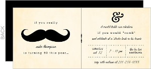 Mustache 50Th Birthday Party Invitation