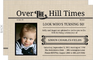 Over The Hill Times  50th Birthday Invitation