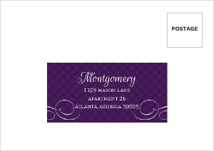 Royal Flourish Wedding Response Card Envelope
