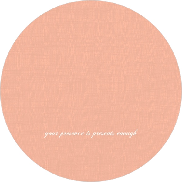 Peach and White Banner 50th Birthday Invitation