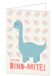 Dino Mite Valentine's Day Card