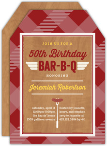Barbecue 50th Birthday Party Invitation