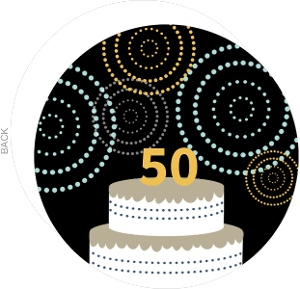 50Th Celebration Cake Birthday Invite