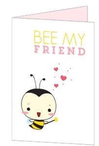 Cute Bee My Friends Kids Valentine's Day Card