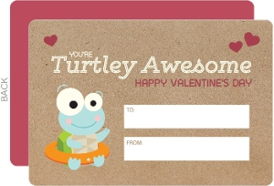 Turtley Awesome Kids Valentines Day Card