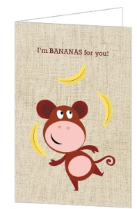 Bananas For You Valentine's Day Card