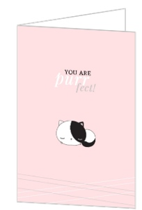Cute Cat You Are Perfet Valentines Card