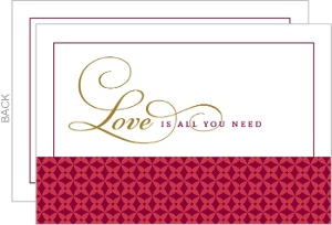 Love Is All You Need Valentines Note Card