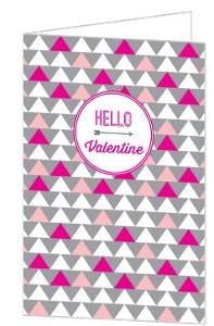 Modern Pattern Valentine's Day Card