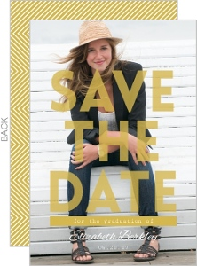 Bold Statement Graduation Save The Date Announcement