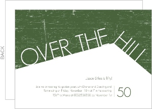 Green Over The Hill 50Th Birthday Invitation