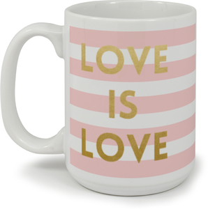 Pink Stripes Love Mug