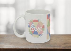 Geometric Pastel Love Coffee Mug