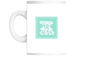Mint Block Initial Custom Mug