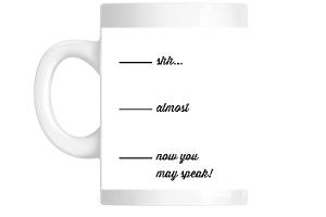 Caffeine Before Speaking Mug